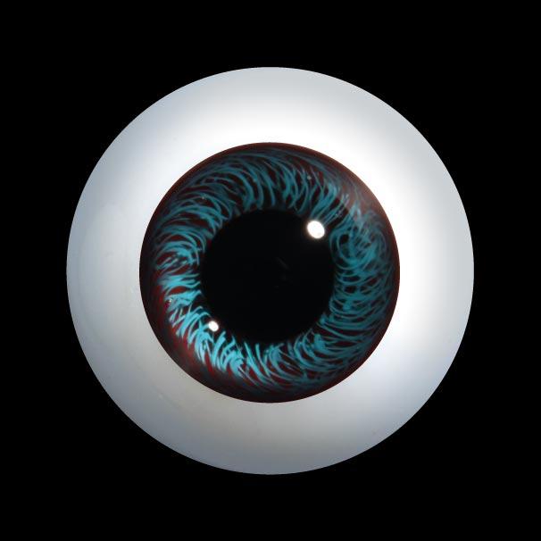 D400LL Rotondo Occhi di vetro ad alta definizione per bambole con una lente bassa